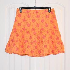 Dresses & Skirts - Gap Orange & Pink Cotton Skirt Size 12